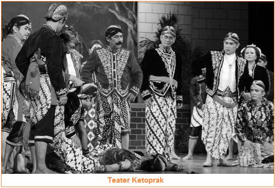 Teater Rakyat - Contoh Teater rakyat adalah Ketoprak - Jenis-Jenis Teater Daerah - 3 jenis teater daerah