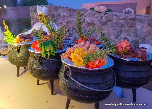 dinner in Savannah Grill in Sir Bani Yas Island
