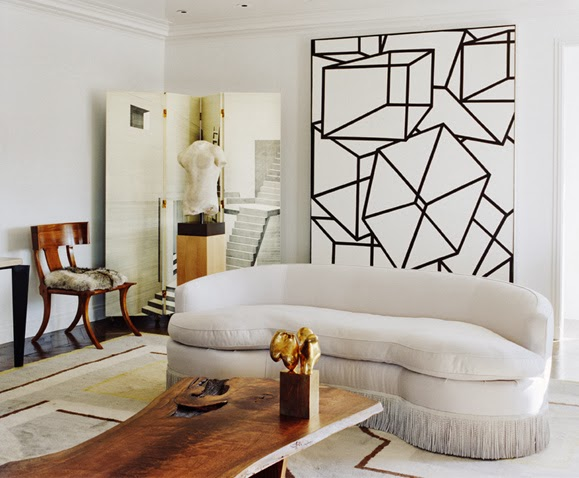how to use oversized art in your home decorabstract painting