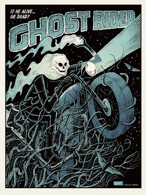 Mondo x Marvel Comic Book Screen Print Series - Ghost Rider Standard Edition Screen Print by Methane Studios
