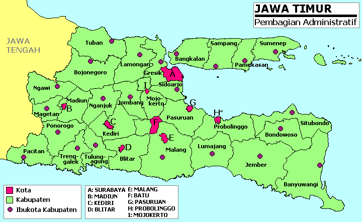 Hasil gambar untuk peta jawa timur
