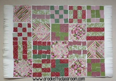 Make a paper quilt with your class, fun way to review geometry.