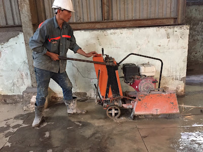 Khoan cắt bê tông tại huyện Tiểu Cần