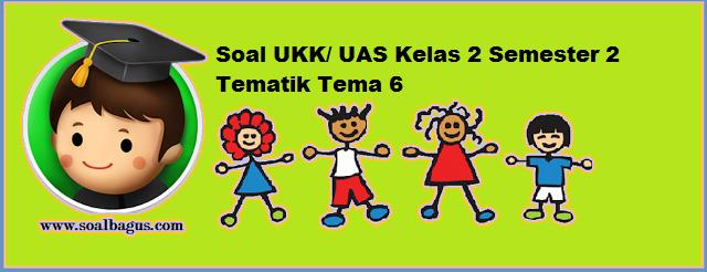 download Soal UKK Kelas 2 Tema 6 Kurikulum 2013 tahun ajaran 2017 www soalbagus com