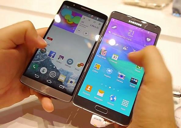 LG G3 vs Samsung Galaxy Note 4