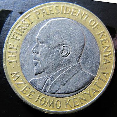 Reverse of 2005 Kenya 10 Shillings, President Mzee Jomo Kenyatta