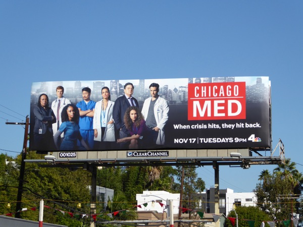 Chicago Med series launch billboard