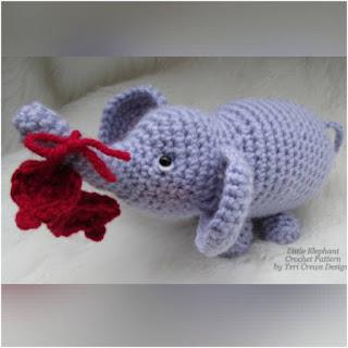 patron amigurumi Pequeño elefante teri's blog