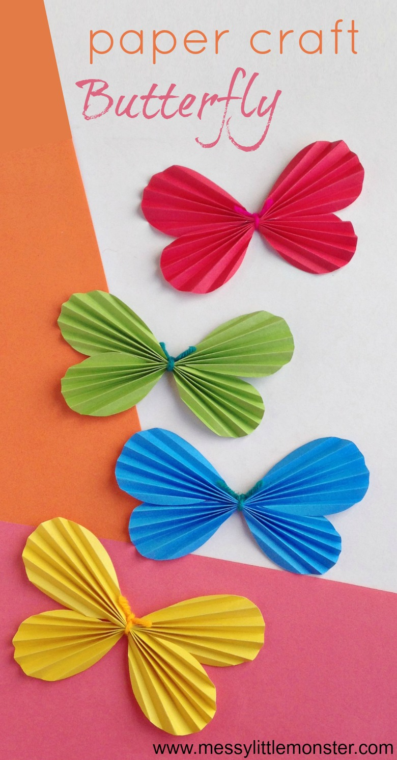 Butterfly Paper Craft Messy Little Monster