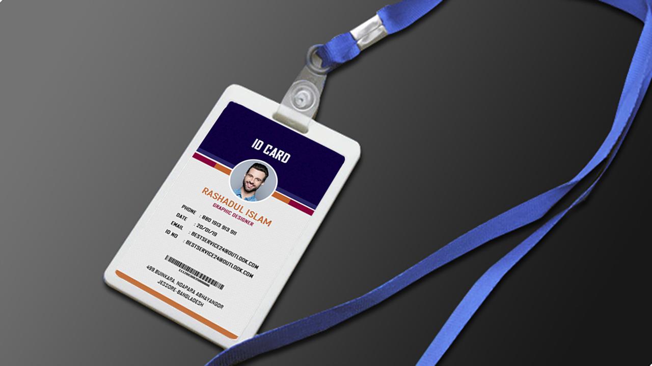 company id card design photoshop tutorial