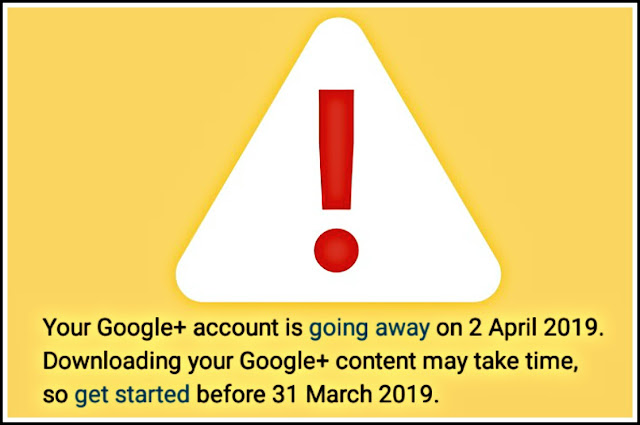 google plus shutting down 2019