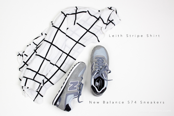 Leith Stripe Top review, New Balance 574 Sneaker review
