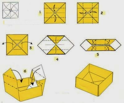 Origami Box with Cover Folding Instructions - How to Fold an ... | 332x400