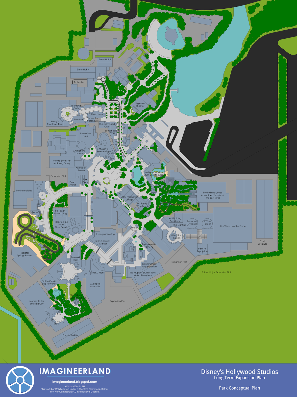 Imagineerland Disney 39 s Hollywood Studios Park Plan