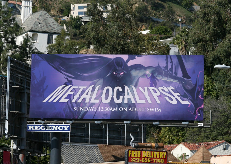 Metalocalypse Adult Swim billboard