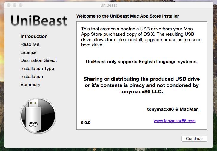 Mac OS X Yosemite with UniBeast   Hackintosh Mumbai
