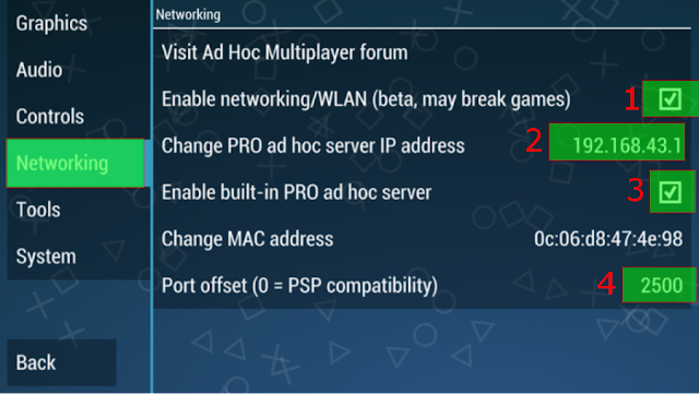 Konfigurasi Setting PPSSPP Untuk Multiplayer