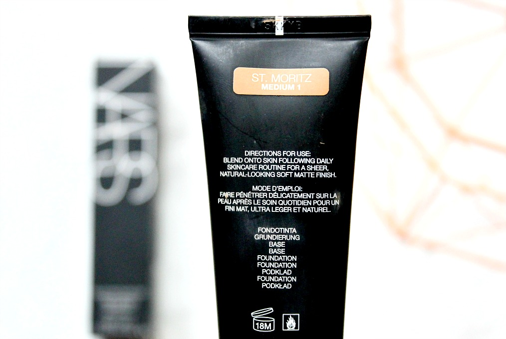 NARS Matte Skin Tint in St Mortiz review and swatch
