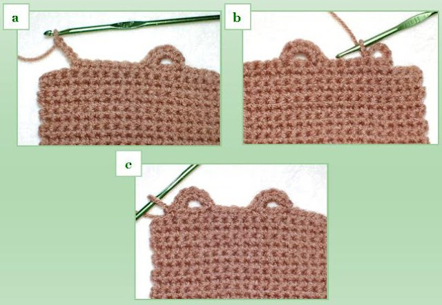 Two-Step Crochet Button Loop
