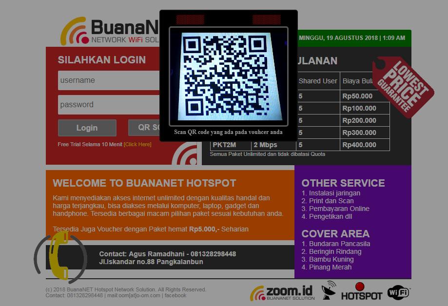 Memasang Login Hotspot Dengan QR Scan Barcode - O-OM