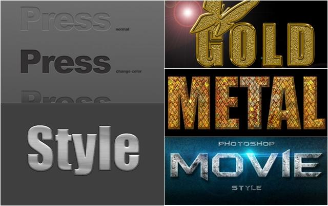 40 бесплатных стилей для Фотошопа (Layer Styles)