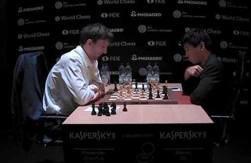 L'image clé de la ronde 2 : la seule partie décisive à l'avantage d'Alexander Grischuk face à Wesley So