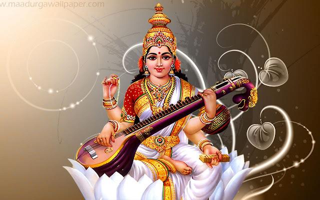 Maa Saraswati HD Wallpaper For Your Mobile & Desktop