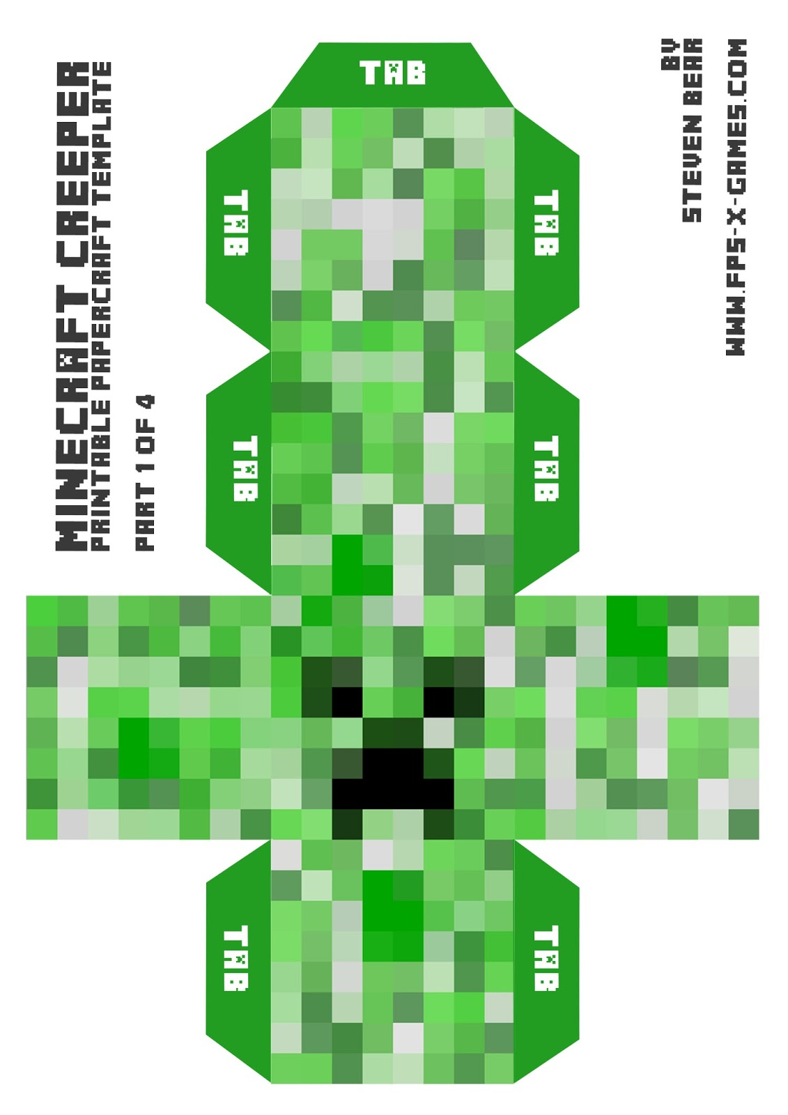 ... big minecraft creeper minecraft creeper printable papercraft templates