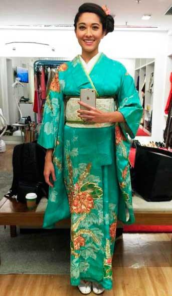 Kimono, figurino Sol Nascente