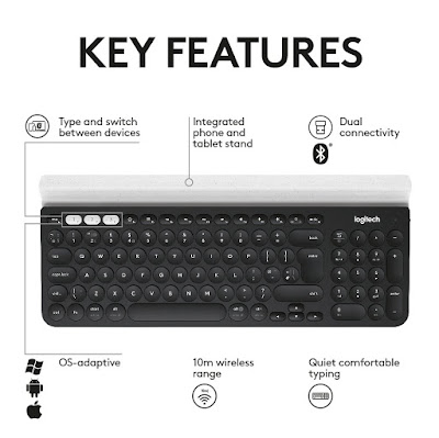 Logitech-K780-Wireless-USB-Bluetooth-Keyboard