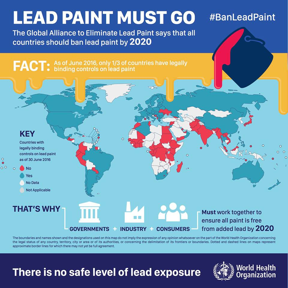 International lead poisoning prevention week of action for When was lead paint banned