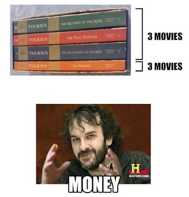 Meme sobre Tolkien y Peter Jackson