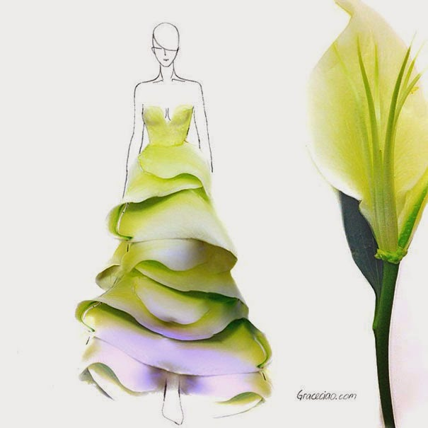 Flower petals turned into clothes