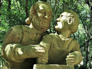 Pai Ensina Profissão ao Filho, Profissões dos Imigrantes Alemães no Parque Pedras do Silêncio, Nova Petrópolis