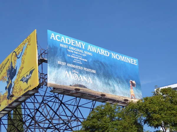 Moana Oscar Nominee billboard