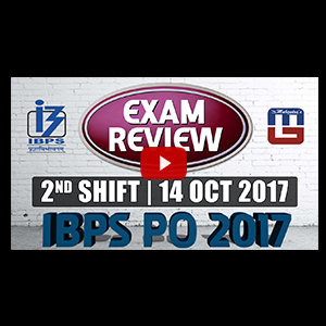 Exam Review IBPS PO PRELIMS 2017 with Cut Off | | 14 OCT -2nd Shift