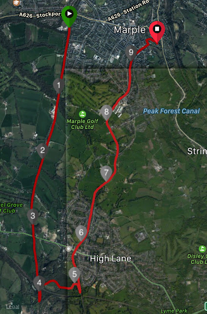Marple 10km Trail Route Map