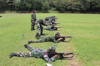 Asah Naluri Tempur Yonbekpal-2 Mar Laksanakan Latihan Menembak
