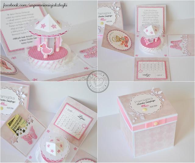 Exploding box z karuzelą w wersji dla dziewczynki – Mai