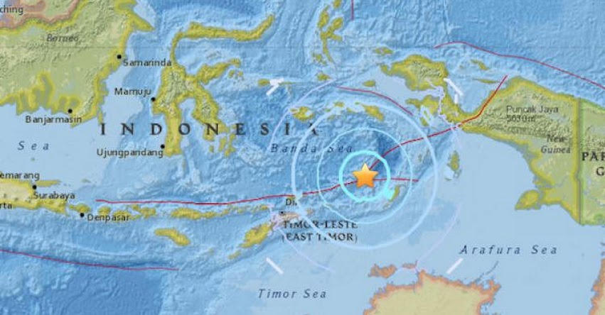 TERREMOTO EN INDONESIA de Magnitud 6.4 - Alerta de Tsunami (Hoy Domingo 25 Marzo 2018) Sismo Temblor EPICENTRO - Saumlaki - Islas Tanimbar - USGS