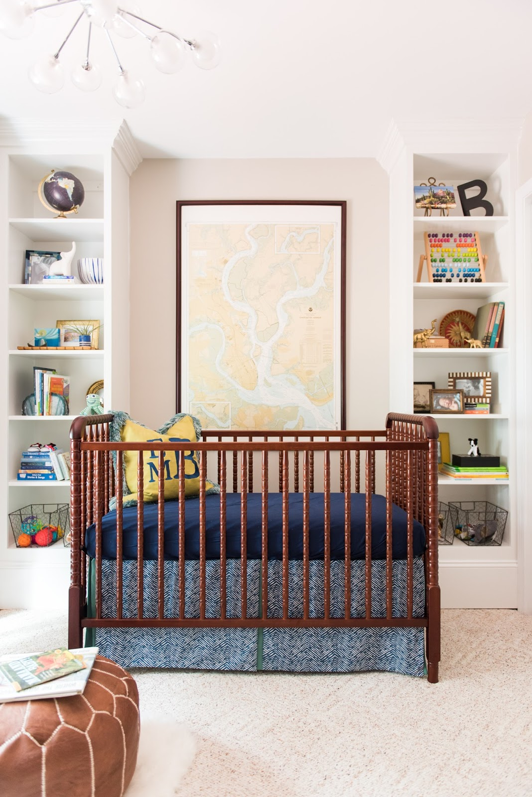 Spindle Crib, Map, Nursery