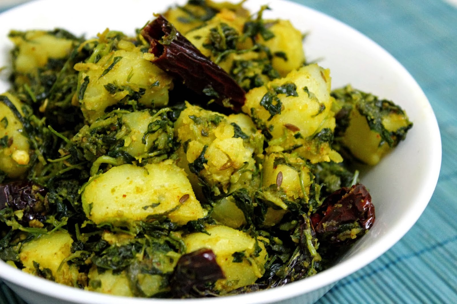 Spicy Aloo Methi Recipe