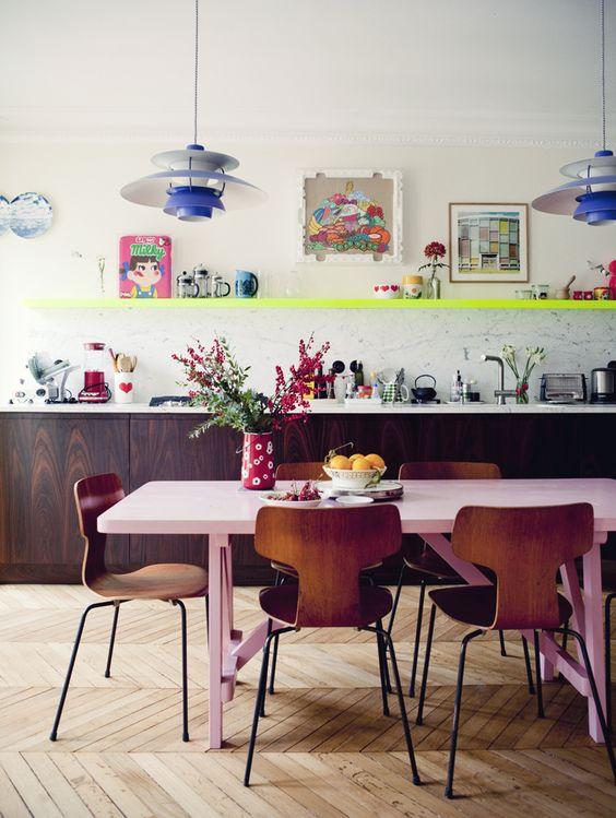 decoration cuisine couleur etagere blog