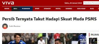 Pancing Emosi Bobotoh, Berita Viva.co.id tentang Persib Bernada Menyudutkan