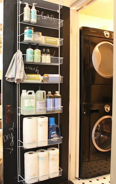 Laundry door organisation