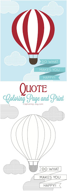 Hot Air Balloon Inspirational Quote Coloring Page And Print