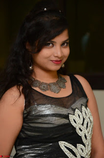Shrisha Dasari in Sleeveless Short Black Dress At Follow Follow U Audio Launch 058.JPG