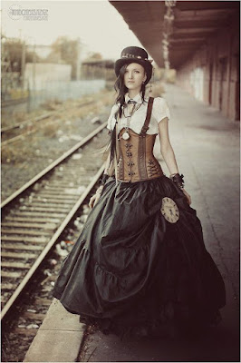 The Victorian era bell skirt and dress style has influence modern steampunk fashion, namely the bell skirt.