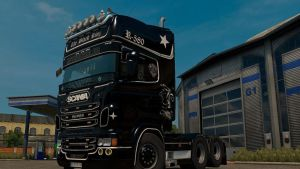 Scania RJL Black King Skin