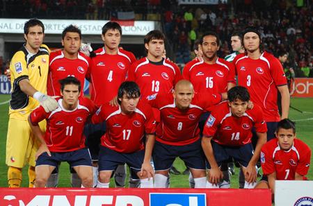 Formación de Chile ante Bolivia, Clasificatorias Sudáfrica 2010, 10 de junio de 2009